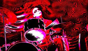 Stevie on Drums